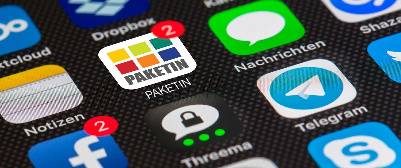 PAKETIN-App auf Smartphone